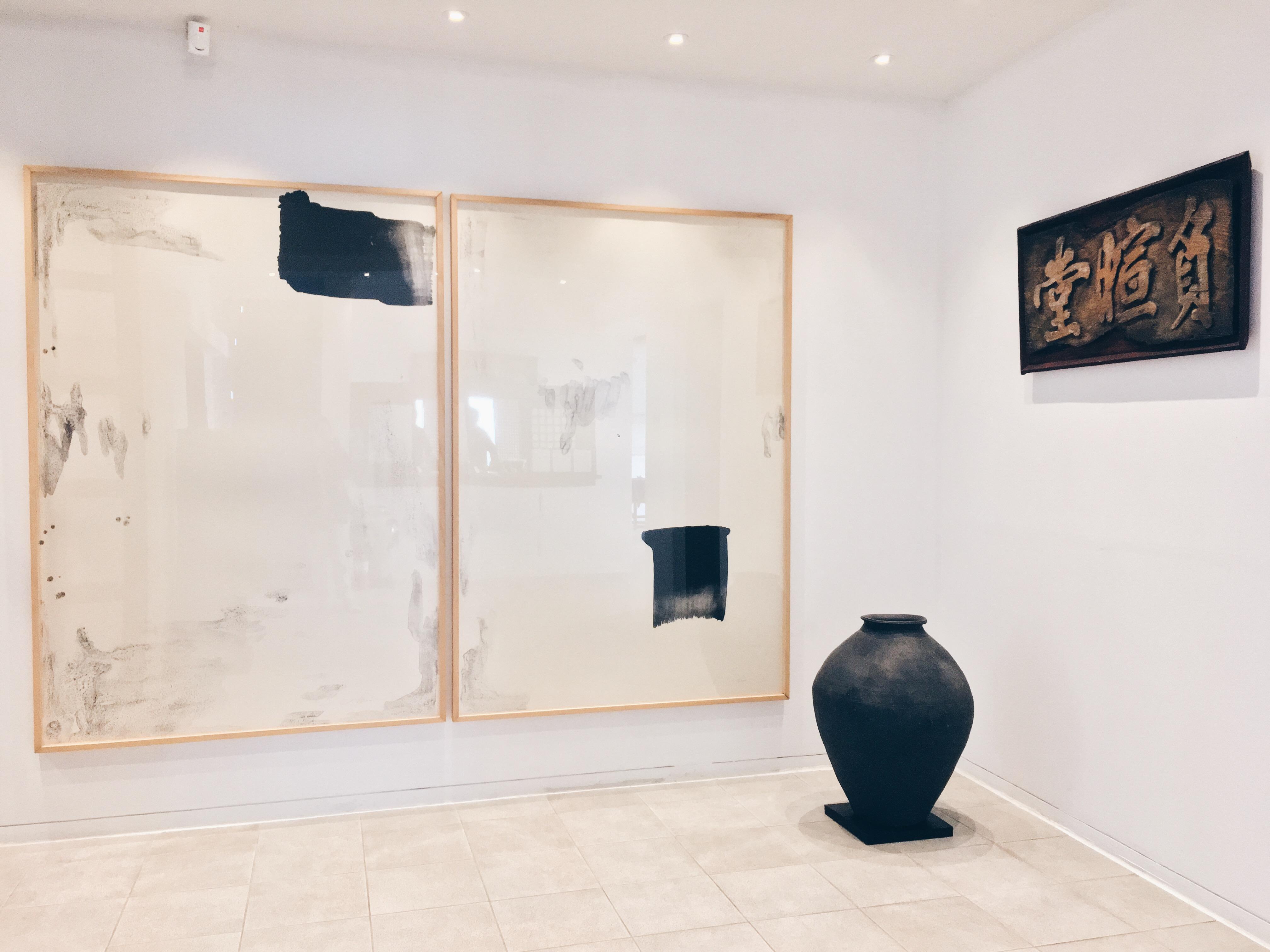 Various artworks on display