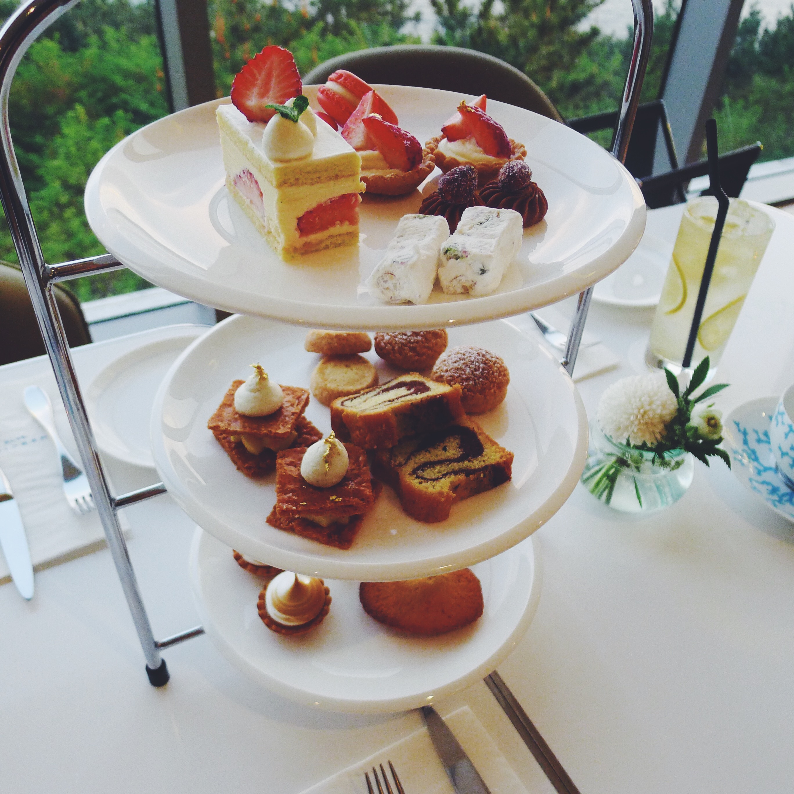 The French Full Tea Set: includes a selection of desserts and coffee or tea