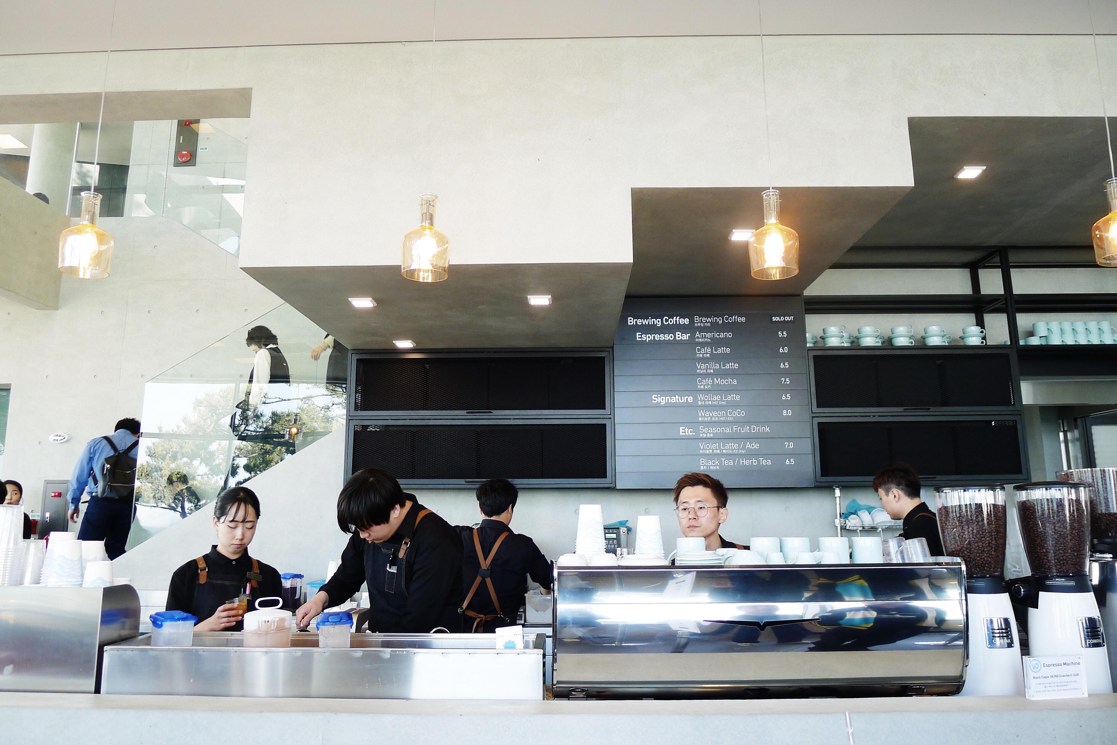 The barista counter